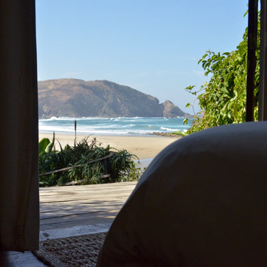 Second Beach, Port St Johns, seen from our accommodation