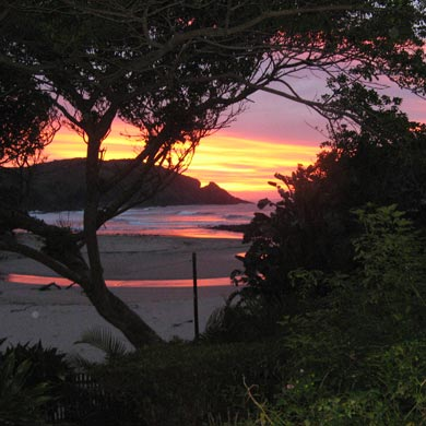 Sunset in Port St Johns